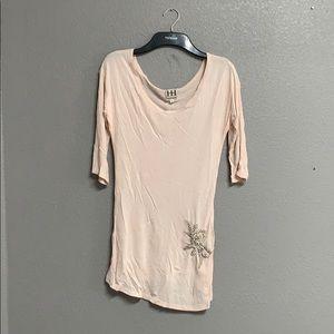 Haute Hippie shirt with rhinestone detail